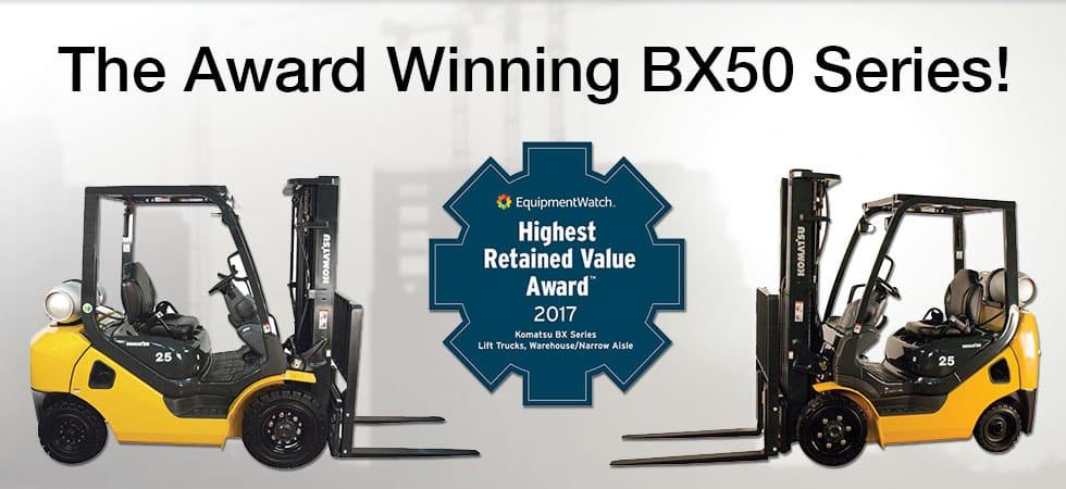 Komatsu BX50 Award Winning Best Retained Value Award