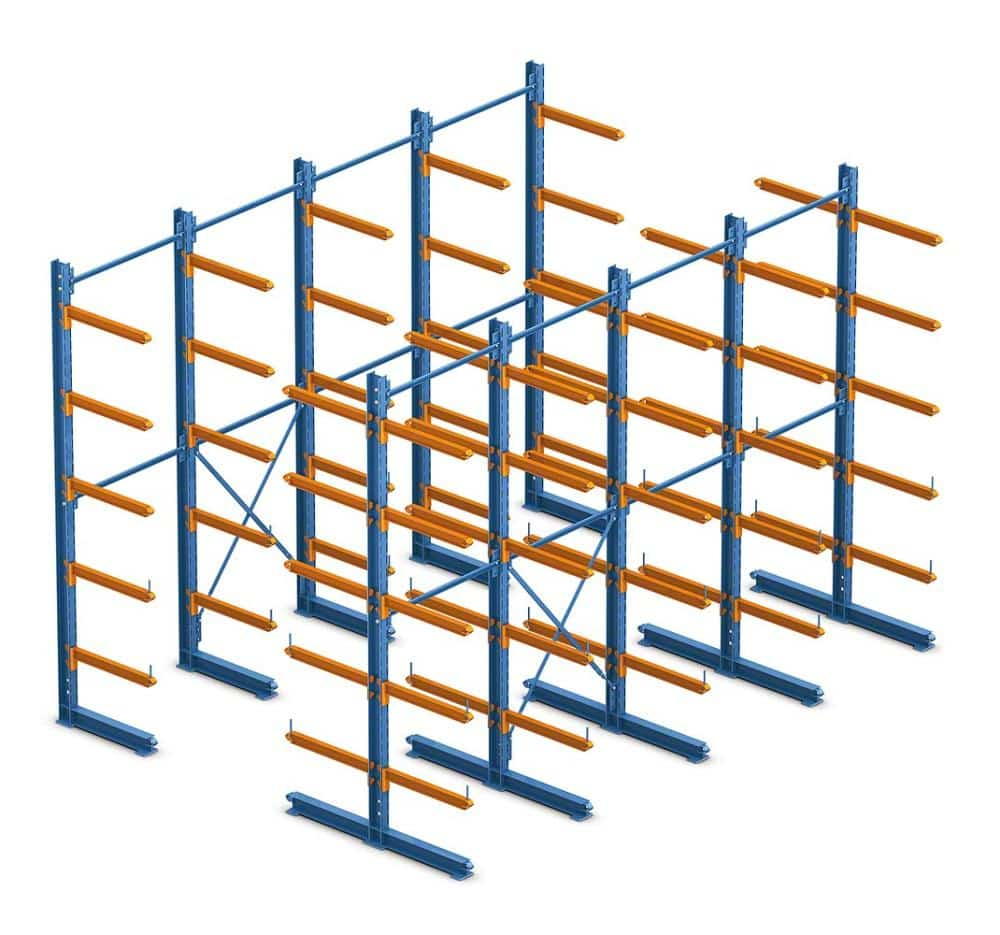 Cantilever Pallet Rack Diagram Animated