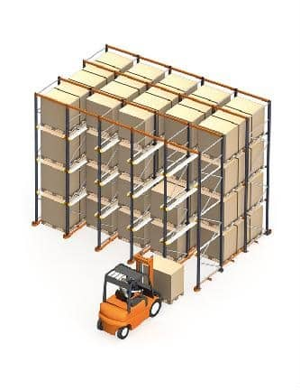 Drive In Pallet Racking System Animated