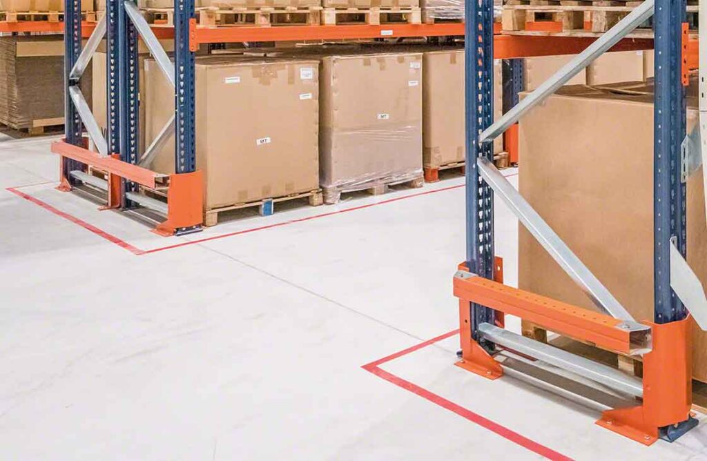 Warehouse Pallet Racking Upright Front and Side Protectors