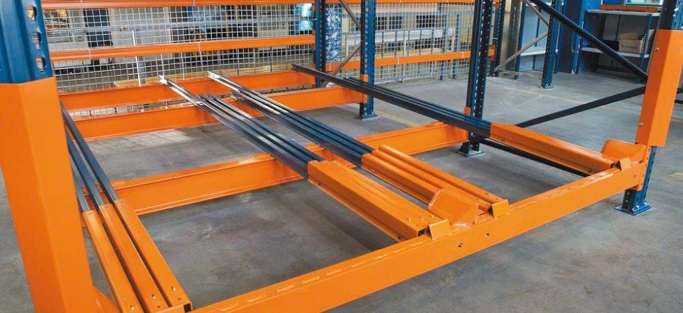 Push Back Rack Trolley Assembly